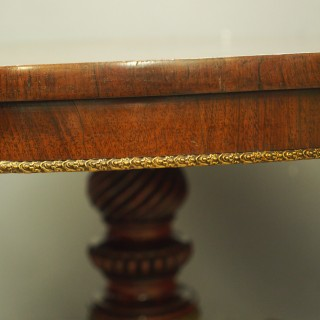 Regency Brass Inlaid Rosewood Centre Table