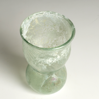 Rare Rhenish Saxon Decorated Glass Beaker