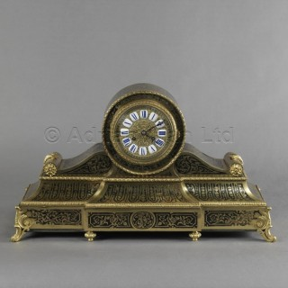 A Fine Louis XV Style Boulle Mantel Clock