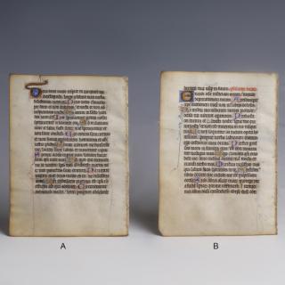 Medieval Psalter Manuscript Leaf