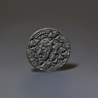 St. Catherine Circular Bronze Seal