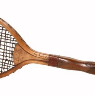 Antique  Lawn Tennis Racket Rare.