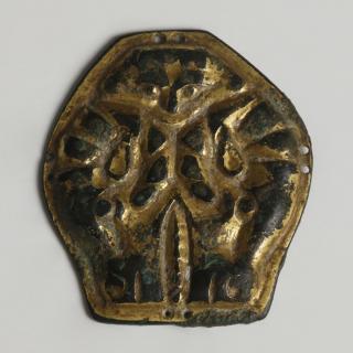 Germanic Gilt Bronze Belt Strap End