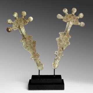 Rare Set of Visigothic Radiate Brooches