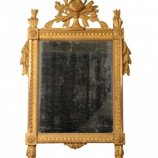 Giltwood mirror with the original mercury plate, French, Louis XVI, circa 1780