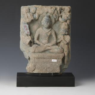 Large Gandharan Relief of Buddha