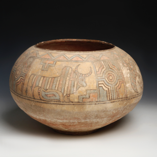 Large Indus Valley Polychrome Storage Jar