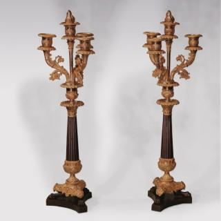 Early 19th Century Bronze and Ormolu 4-light Candelabra