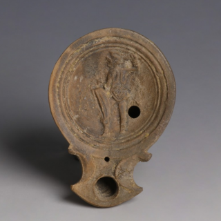 Roman Lamp With Hellenistic Feature