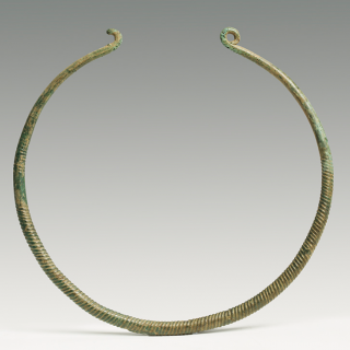 Bronze Age Deorated Neck Torc