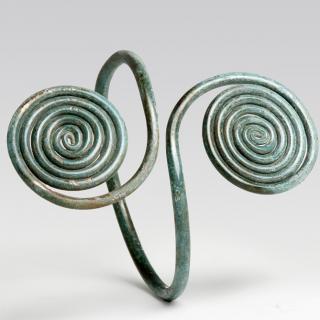 A Celtic Bronze Spiral Armband