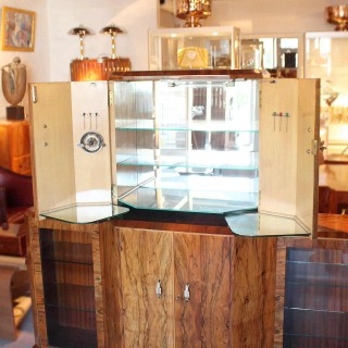 Art Deco Cocktail Display Cabinet