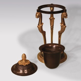 Early 19th Century Bronze & Ormolu Parfumiers In Thomas Hope Style
