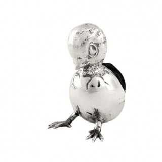 Antique Edwardian Sterling Silver 'Hatching Chick' Pin Cushion 1910