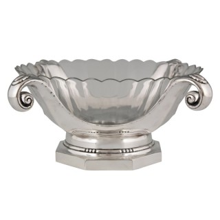 Art Deco silver plated centerpiece or fruit dish