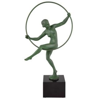 Art Deco nude hoop dancer