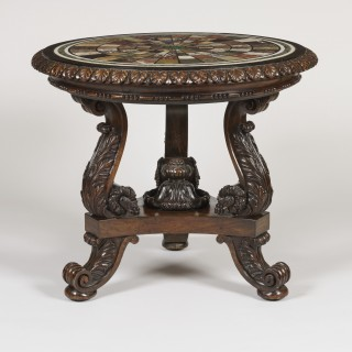 An Important Pair of George IV Specimen Marble Top Tables Firmly Attributed to Gillows