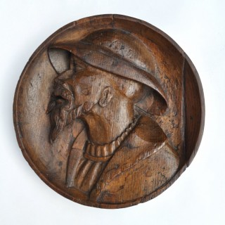 Renaissance Oak Portrait Panel