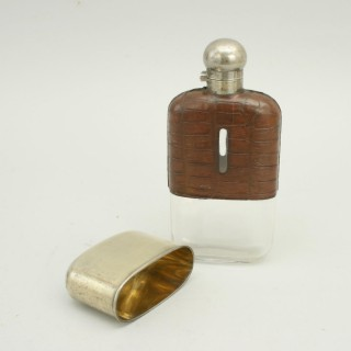 Crocodile Leather Hip Flask