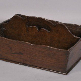 Antique 18th Century Oak Two Division Cutlery Tray