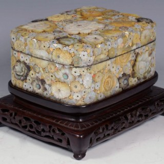HIGH QUALITY DECORATIVE JAPANESE SHIBAYAMA BOX ON STAND - MASAMITSU