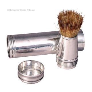 Portable Silver  Shaving Brush