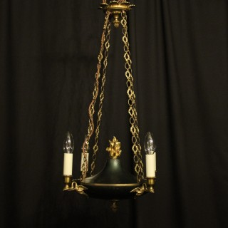 French Empire 4 Light Antique Chandelier