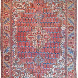Antique Heriz carpet, rare 'Boteh' design