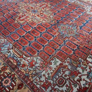 Antique Heriz carpet, rare 'Boteh' design
