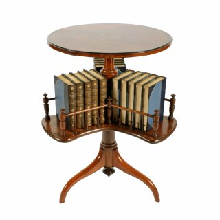 Rosewood Marquetry Inlaid Book Table