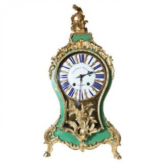 A 18TH CENTURY LOUIS XV BRACKET CARTEL CLOCK BY CHARLES VOISIN, PARIS