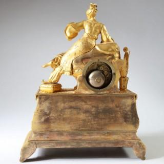 A GILT BRONZE OTTOMAN MANTLE CLOCK