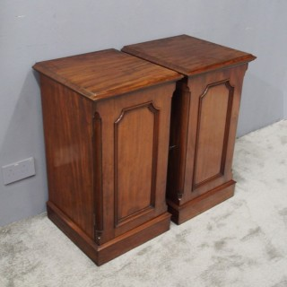 Pair of Victorian Mahogany Lockers