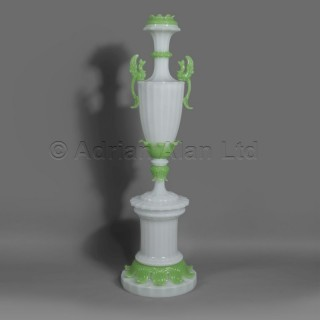 An Important and Monumental Louis-Philippe Verre Opaline Vase