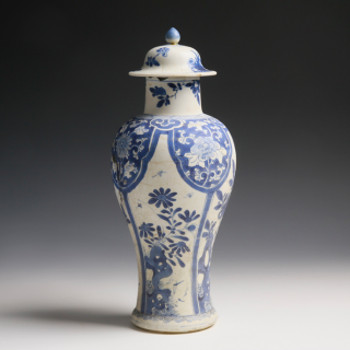 Kangxi Meiping Vase from the Blue Chrysanthemum Wreck