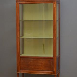 Slim Edwardian Display Cabinet