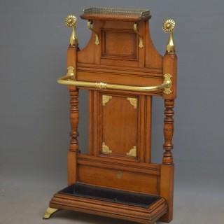 Stylish Late Victorian Oak Hall Stand