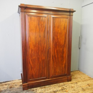 William IV Mahogany Two Door Wardrobe