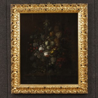17th Century Oil on Panel Flemish Still Life Painting, 1680