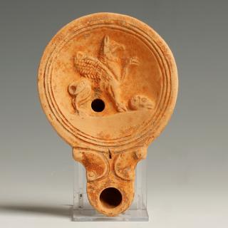 Roman 1st Century Lamp with Gryphon