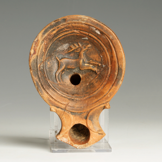Provenanced Roman Lamp with Stag