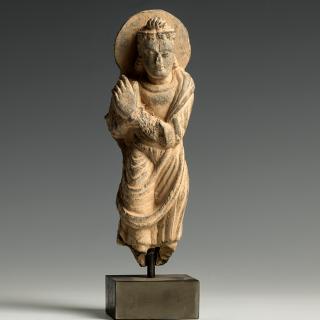Gandharan Stone Carving of a Bodhisattva