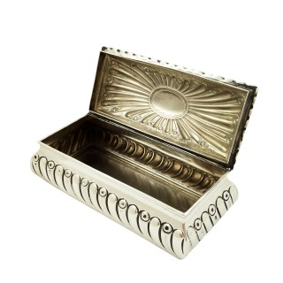 Antique Victorian Sterling Silver Trinket Box 1896