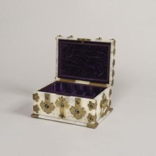 An Fine Onyx Toilet Box By George Betjemann & Sons