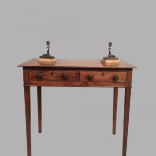 Georgian mahogany side table.
