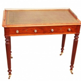 Mid 19th Century English Mahogany Victorian Writing Table