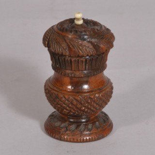 Antique Treen 19th Century Lignum Vitae Go to Bed