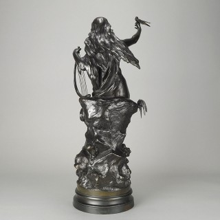 "Art Nouveau Bronze figure entitled ""Hirondelles"" By Mathurin Moreau"