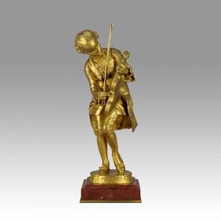"Art Nouveau Gilt Bronze figure entitled  ""Mozart"" by Louis Ernest  Barrias"
