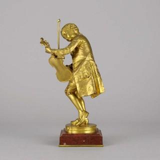 """Art Nouveau Gilt Bronze figure entitled  """"Mozart"""" by Louis Ernest  Barrias"""